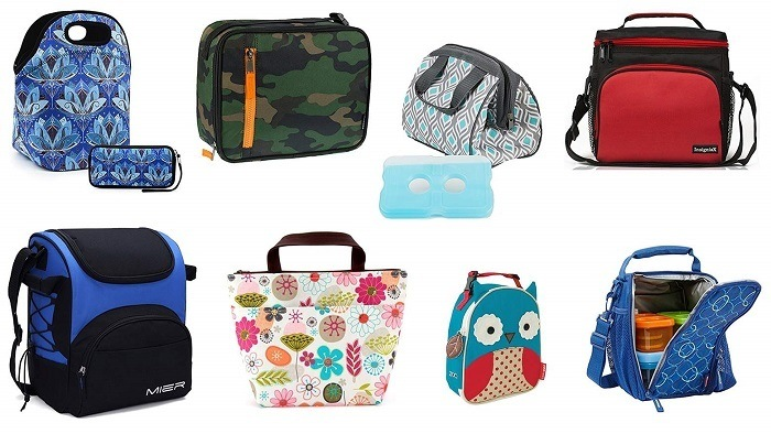 Many insulated lunch bags.
