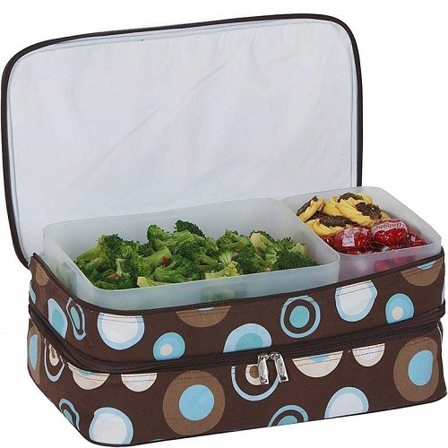 Insulated lunch bag.